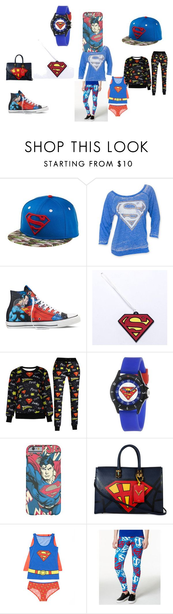 """Superman!!!!"" by daisy-owens on Polyvore featuring Converse, Valentino, Bioworld, women's clothing, women, female, woman, misses and juniors"