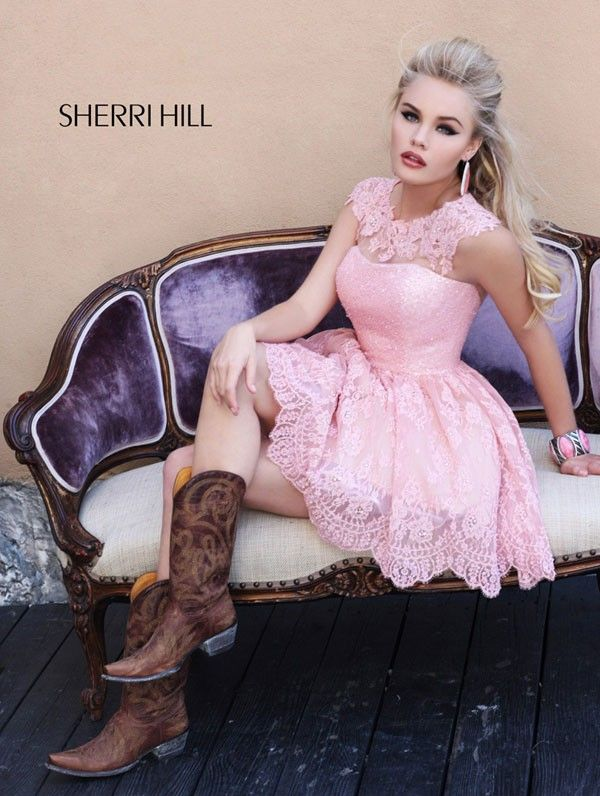 Sherri Hill 2957 Prom and Homecoming Dresses 2013 - Love the dress so much, but wouldn't do the boots for Homecoming