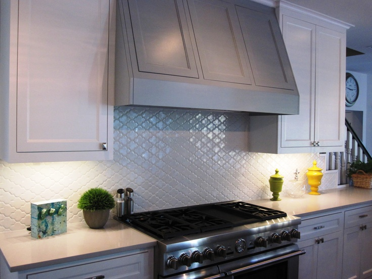 Kitchen Backsplash Is A White Moroccan Tile From Walker