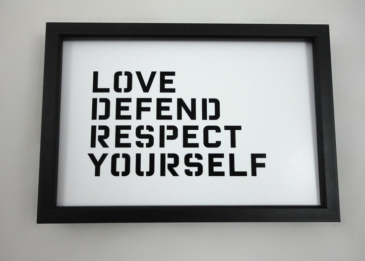 Typography prints, Typography and Respect yourself on Pinterest