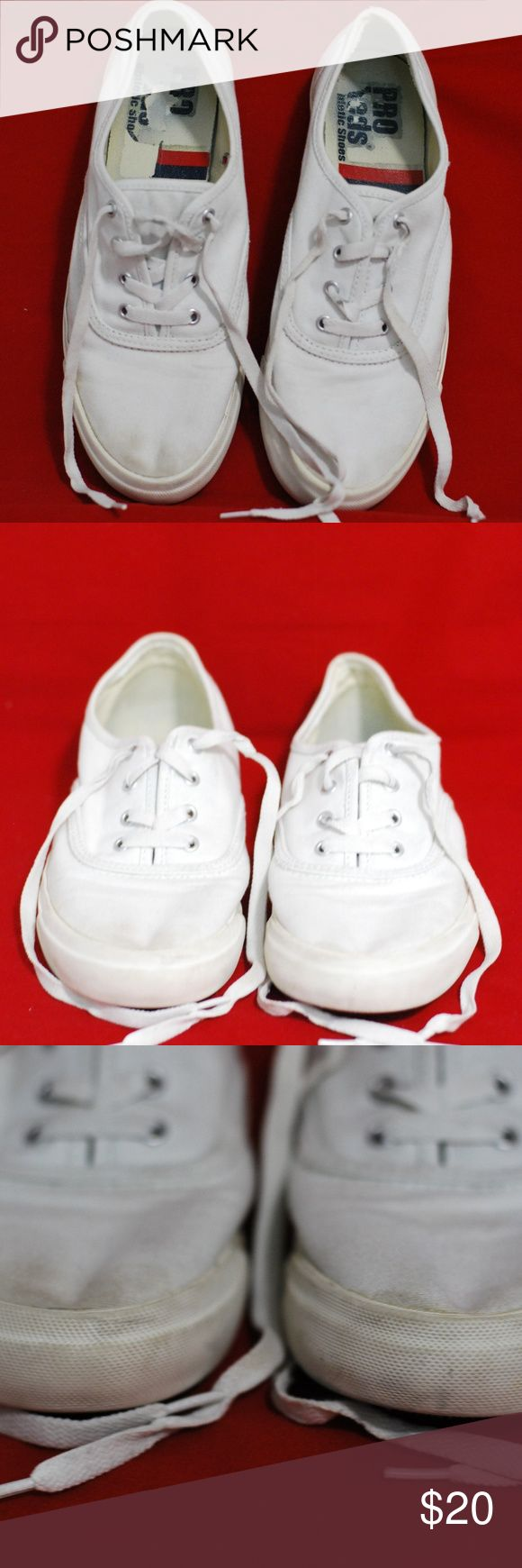 "Pro Keds Shoes Pro Keds Womens Athletic Shoes size 9 color white with laces Tennis  Measurements: Outsole Length: approx. 10 3/4""  Condition: Excellent  Questions are welcome! Fast Shipping from a smoke-free pet free home. keds Shoes Athletic Shoes"