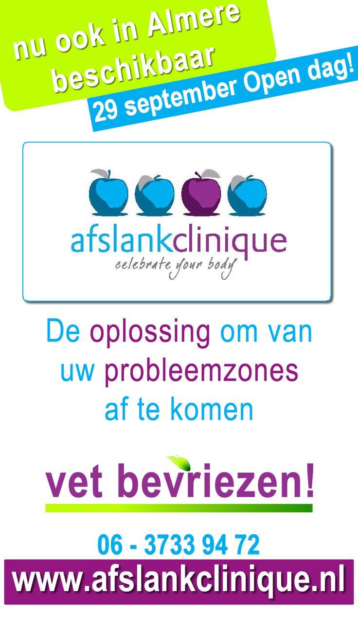 De Oplossing voor uw Probleemzones: Vet Bevriezen! 29 sept 2012, OpenDag, AfslankClinique #Almere