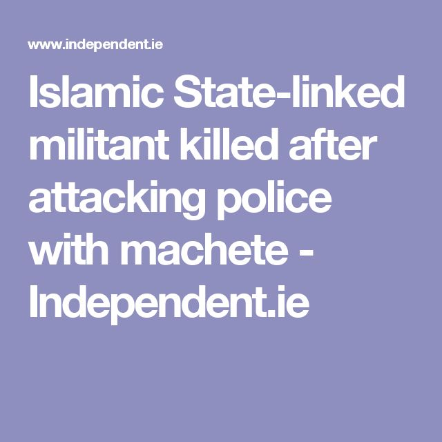 Islamic State-linked militant killed after attacking police with machete - Independent.ie