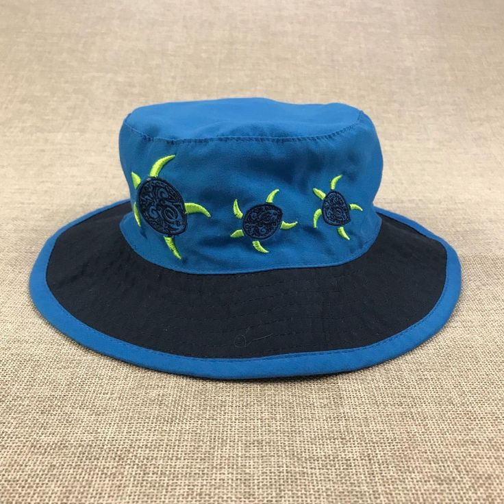 Koala Baby Boys Size 6-12 M Fishers Hat Blue Turtles Sun Summer Cap Embroidered #KoalaBaby #Fishers