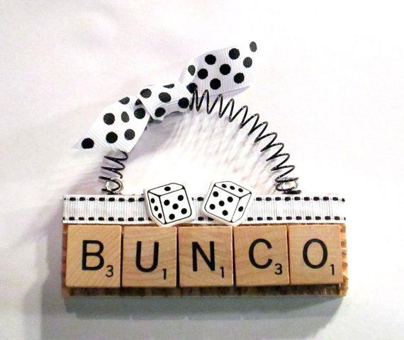 Bunco Scrabble Tile Ornament by ScrabbleTileOrnament on Etsy, $8.00