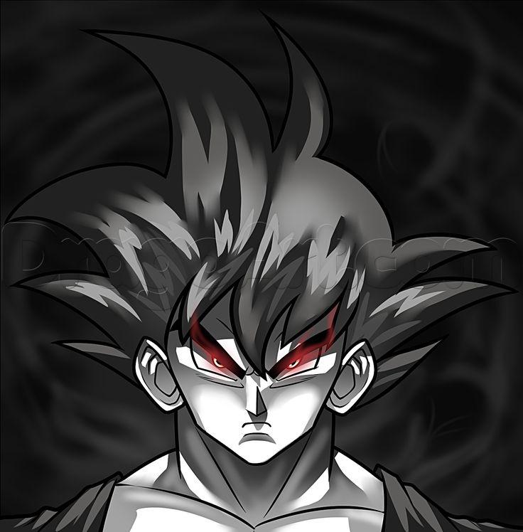 how to draw dark goku