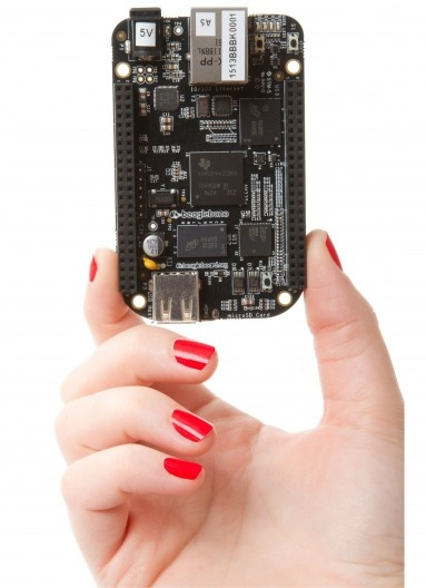 The BeagleBone Black is based on the 1 GHz Sitara 1 GHz ARM Cortex-A8 processor from Texas...