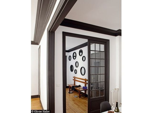 Peinture : de la couleur sur les murs - Elle Décoration | Salon noir et blanc, Appartement blanc ...