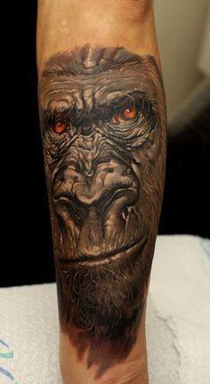 silverback gorilla tattoos worlds best tattoos tattoos dmitriy samohin ...