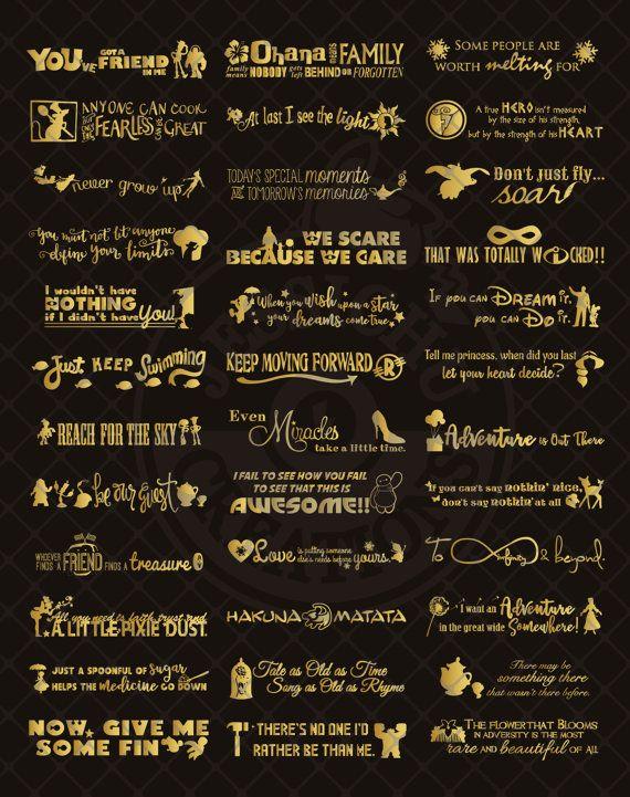 Disney inspiré des citations Chaque devis est ~ 12 H » x 56W » Vous cherchez une taille plus petite ? Consultez cette liste :