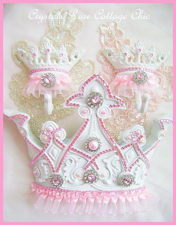 Pink Princess Tutu Bed Crown Canopy Set Ballerina Ballet Girls Room Decor Nursery Baby Pink Rhinestone Bling Shabby Chic Decor Photo Prop on Etsy, $75.00