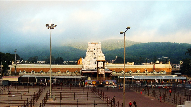 Tirumala Venkateswara Temple, Tirumala - Tirupati Chittoor District, Andhra Pradesh.    The temple is the richest pilgrimage center, after the Sree Padmanabhaswamy Temple in Thiruvananthapuram, Kerala, of any faith and the most-visited place of worship in the world.