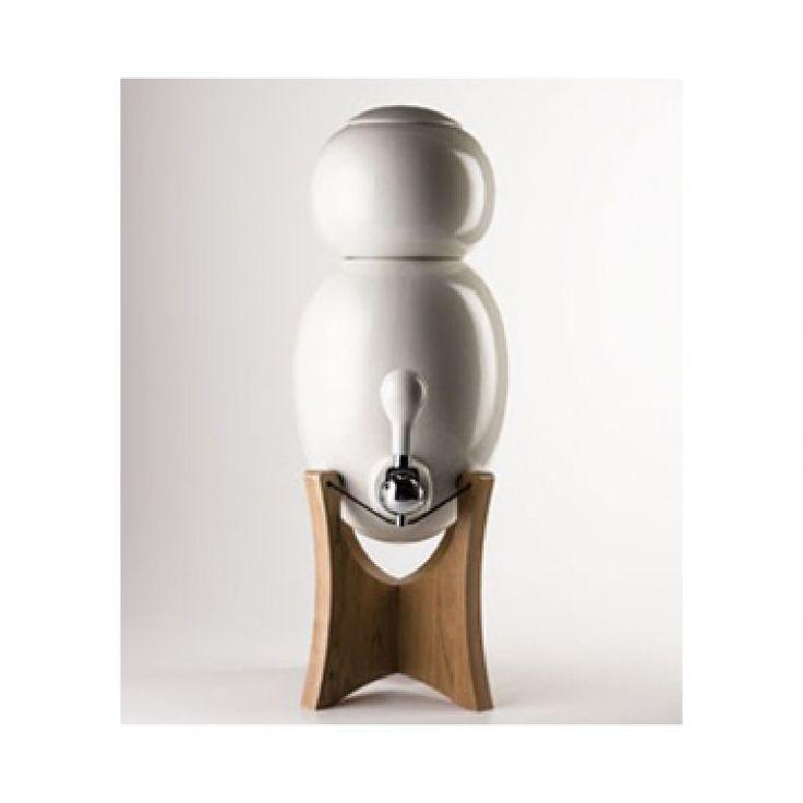 Fontaine a eau et purificateur d'eau ecodesign OVOPUR socle bois
