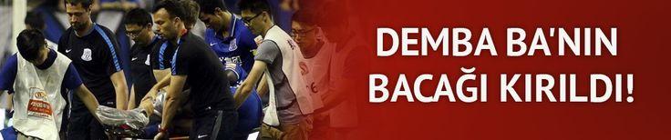 Demba Ba'nın bacağı kırıldı!