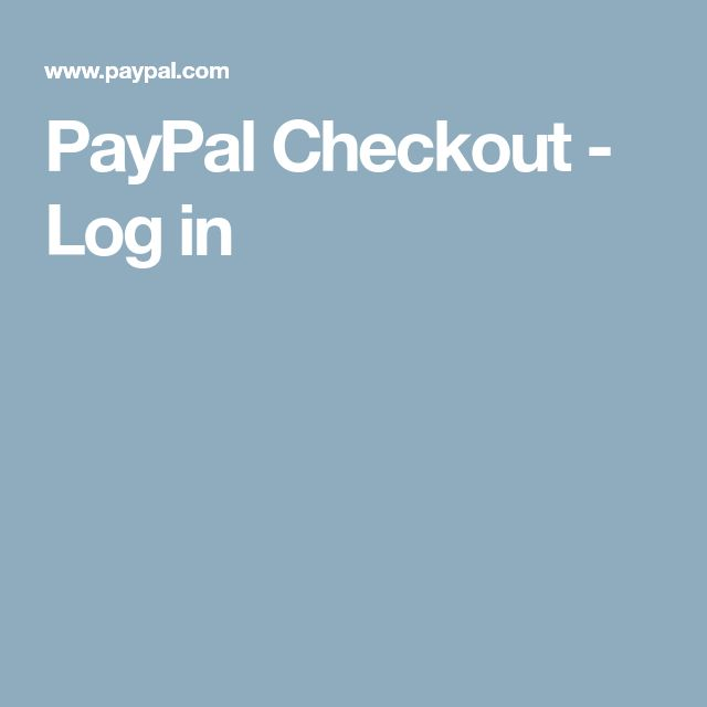 PayPal Checkout - Log in