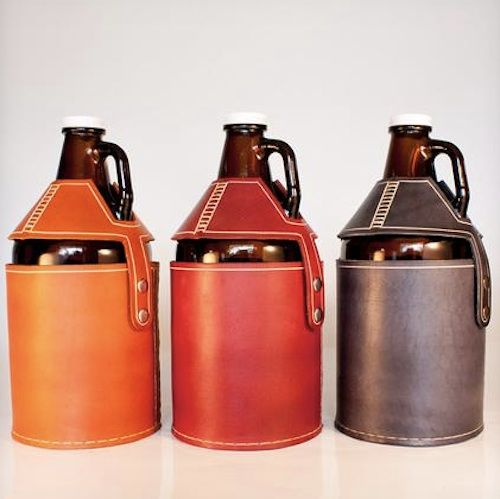 Wedding Gift Ideas For Beer Lovers : Beer Growler Carrier. Great gift idea for the craft beer lover! Gift ...