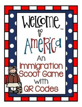 Immigration Scoot Game With Qr Codes For Elementary Links To Tpt Store 2 25