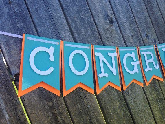 Graduation banner Congratulations banner by FabulouspaperDesigns