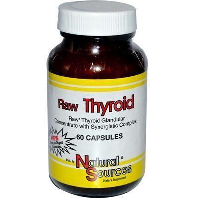 Nature's Source Raw Thyroid (1x60 Cap)