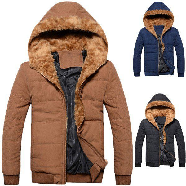Trends Artificial Cotton Warm Jacket Coat Top Brain Hooded For Men/66395 via AmaSell. Click on the image to see more!