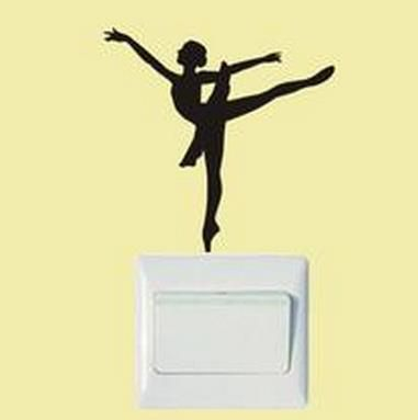 Ballerina Switch Sticker   Free Worldwide Shipping!  Only $3.00    Order from: www.happycozyhome.com