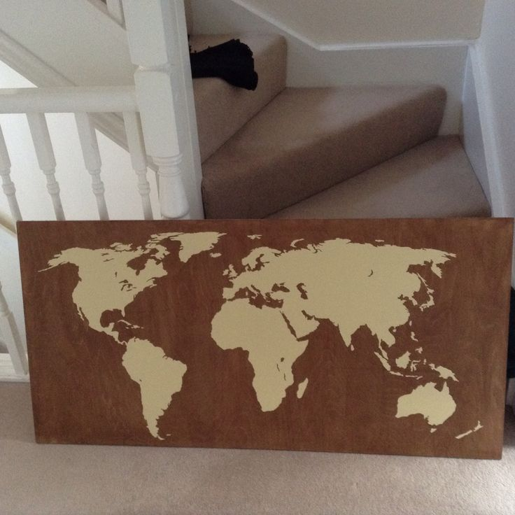 Diy world map, really easy to make!