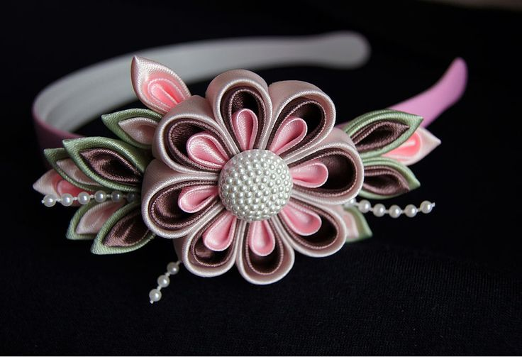 Канзаши своими руками. Атласные цветы своими руками канзаши   3vision - Fashion blog