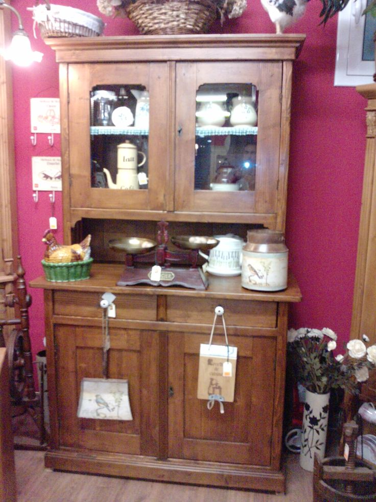 Alacena antigua de cocina restaurada a la cera - Alacenas de cocina antiguas ...
