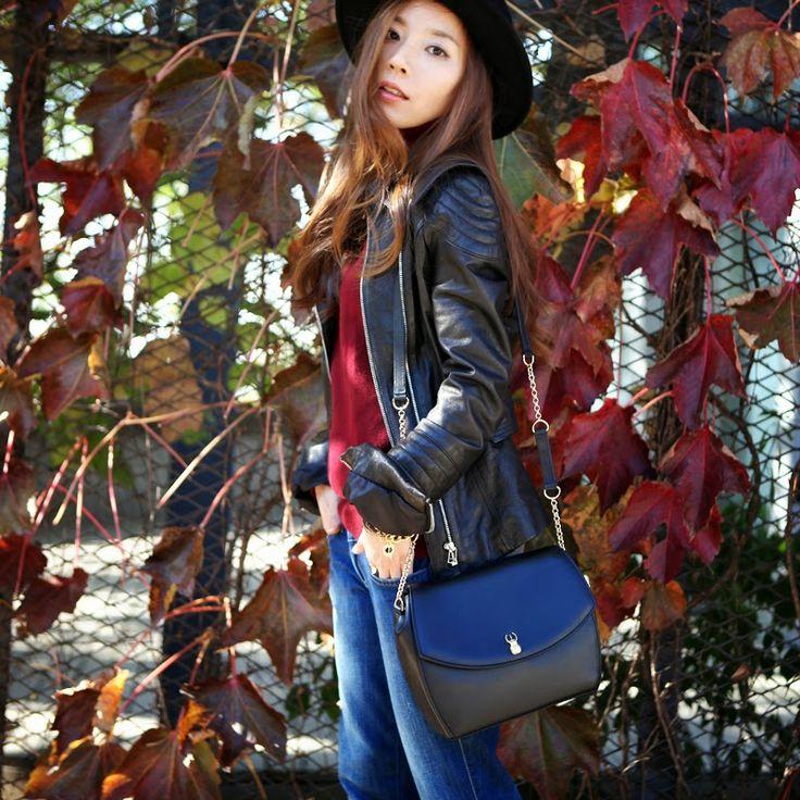LENABIS MJ Korean Fashion Blogger with Marja Kurki bag