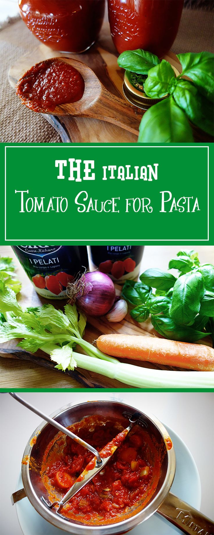 THE Italian Tomato Sauce for Pasta - simply bring Italy to your home & make your family happy with this delicious recipe! Moreover gluten-free & vegetarian.  | cucina-con-amore.com