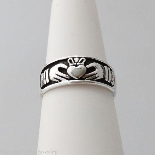 Claddagh-Ring-925-Sterling-Silver-Irish-Jewelry-NEW-Love-Loyalty-Friendship
