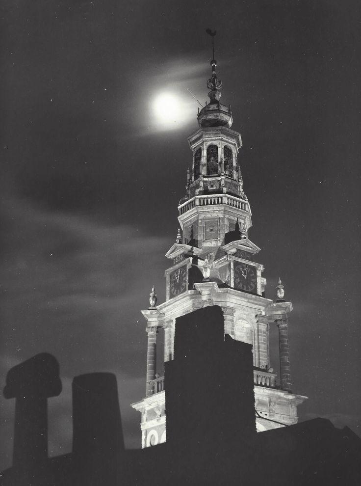 """ The tower of the Zuiderkerk "" Amsterdam, about 1952-1956. Kees Scherer"