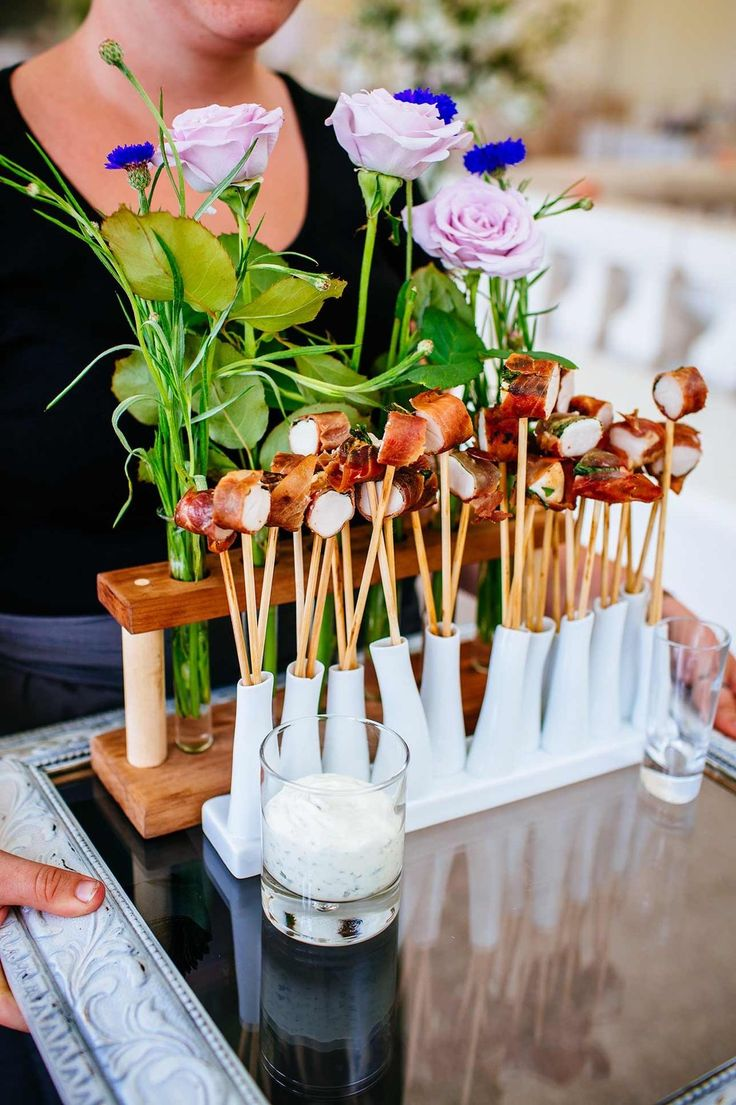 Gorgeous catering idea foodspiration pinterest for Wedding canape menu