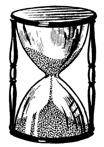 Reloj de arena, dibujo.