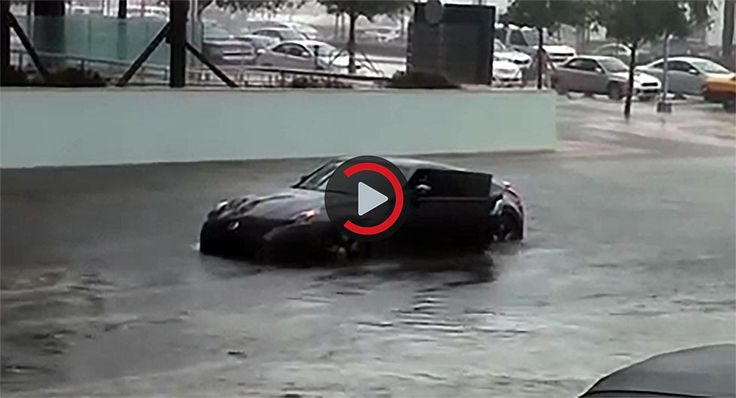 Imagine That; A Nissan 370Z Can't Swim Through A Flooded Road...