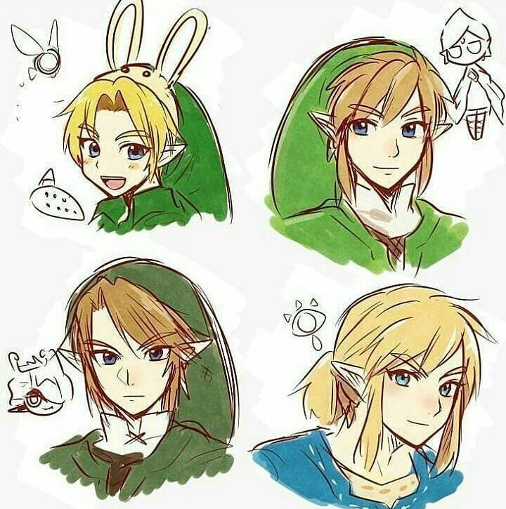 Link and companions | Legend of Zelda Ocarina of Time, Skyward Sword, Twilight Princess, Breath of the Wild