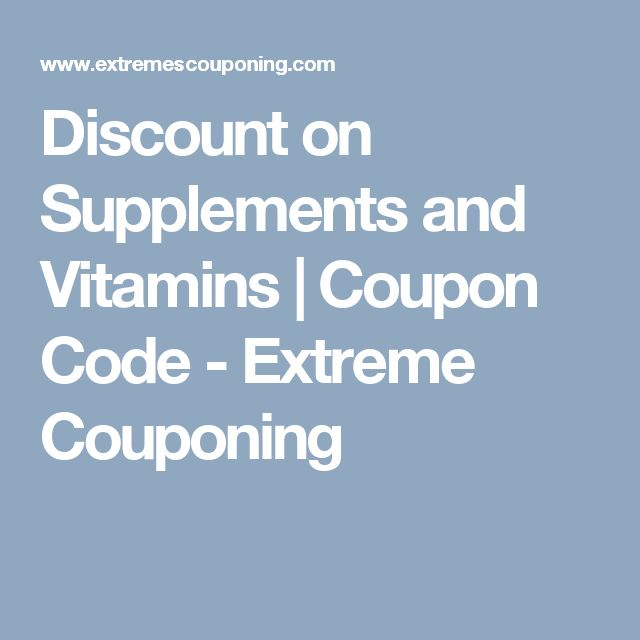 20 best extreme couponing images on pinterest extreme couponing discount on supplements and vitamins coupon code extreme couponing fandeluxe Choice Image