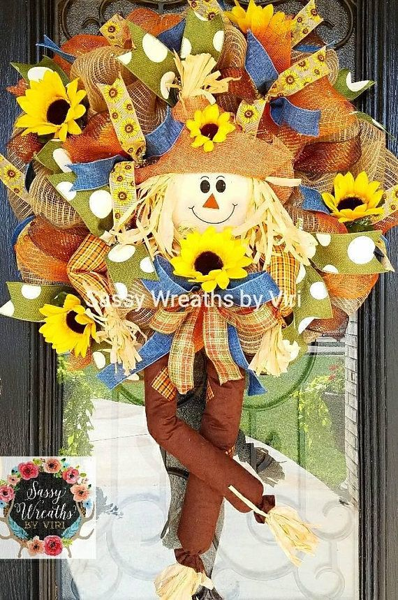Check out this item in my Etsy shop https://www.etsy.com/listing/527759792/fall-scarecrow-character-wreath