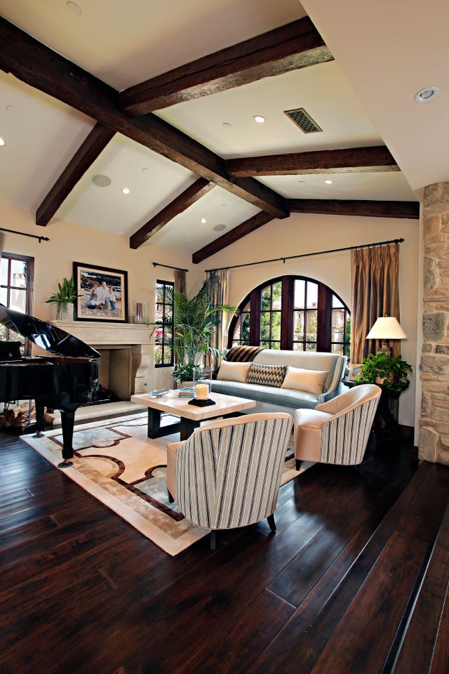 318 best images about dark wood floors on pinterest for Living room structure design