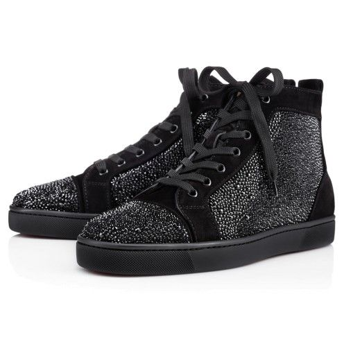 Souliers Homme - Louis Veau Velours/strass - Christian Louboutin