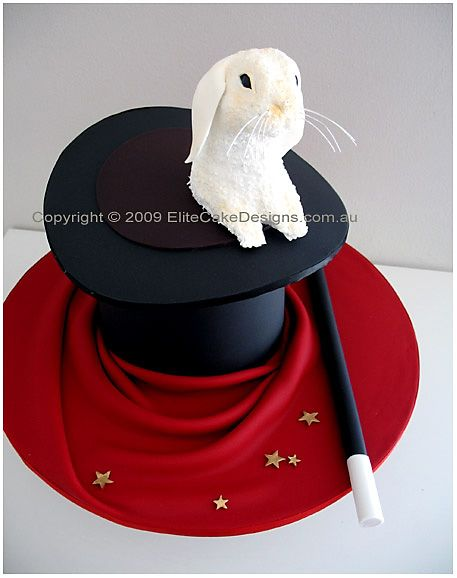 Pinner before:Magician's Hat Cake, Novelty Cakes Sydney, 21st Birthday Cakes, Novelty cake designs, Designer Cakes by EliteCakeDesigns