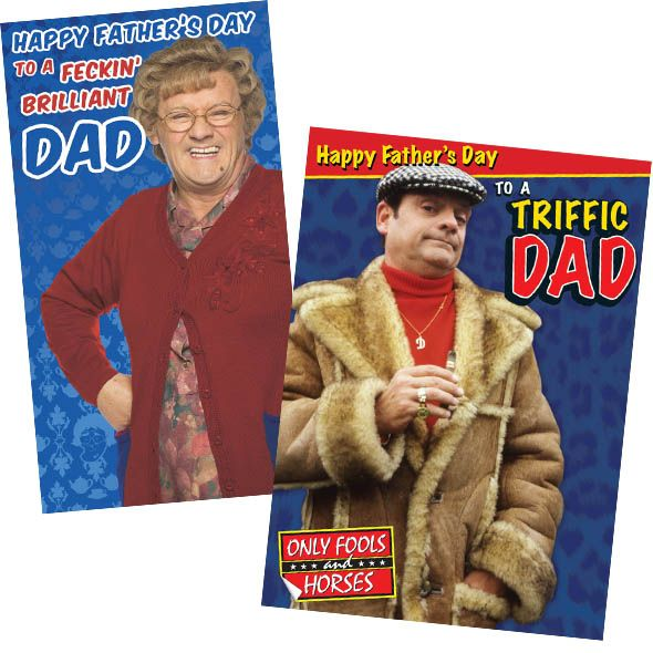 Funny Father's Day Cards for TV shows such as #OnlyFoolsAndHorses and #MrsBrownsBoys with Free 1st Class UK Delivery at https://www.danilo.com/Shop/Cards-and-Wrap/Seasonal-cards