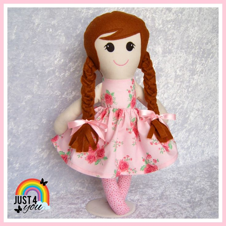 Big Sister Doll with super cute plaits & dressed in pretty pink  :)  She is still available to purchase  :) http://www.facebook.com/Just4YouNZ