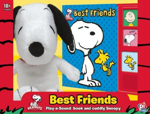 Peanuts(TM) Best Friends: Play-a-Sound book and cuddly Snoopy @ niftywarehouse.com #NiftyWarehouse #Peanuts #CharlieBrown #Comics #Gifts #Products