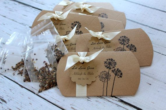 Personalized Wildflower Seeds Pillow Box Favor by JacquelynVaccaro, $3.00