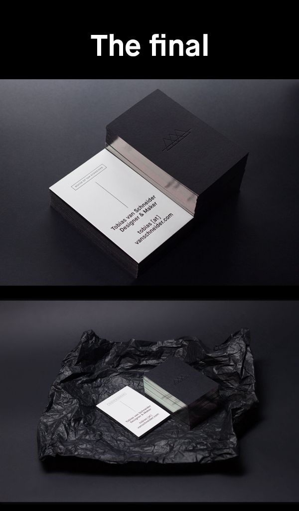 House of van schneider by tobias van schneider via for Tobias business card