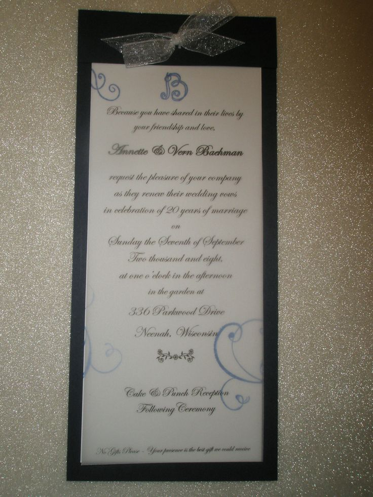 invitations wedding renewal vows ceremony%0A Invitation to vow renewal ceremony  layered with vellum and handstamped