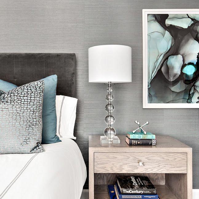 gray turquoise bedroom
