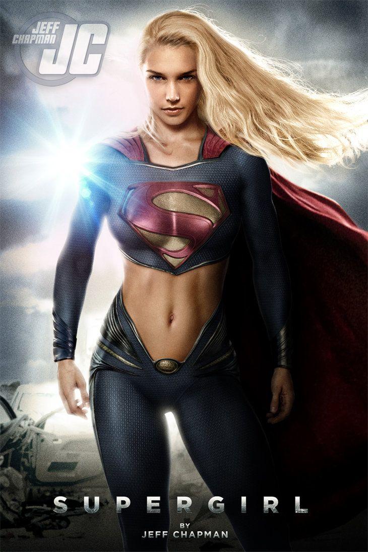 Sexy superhero woman