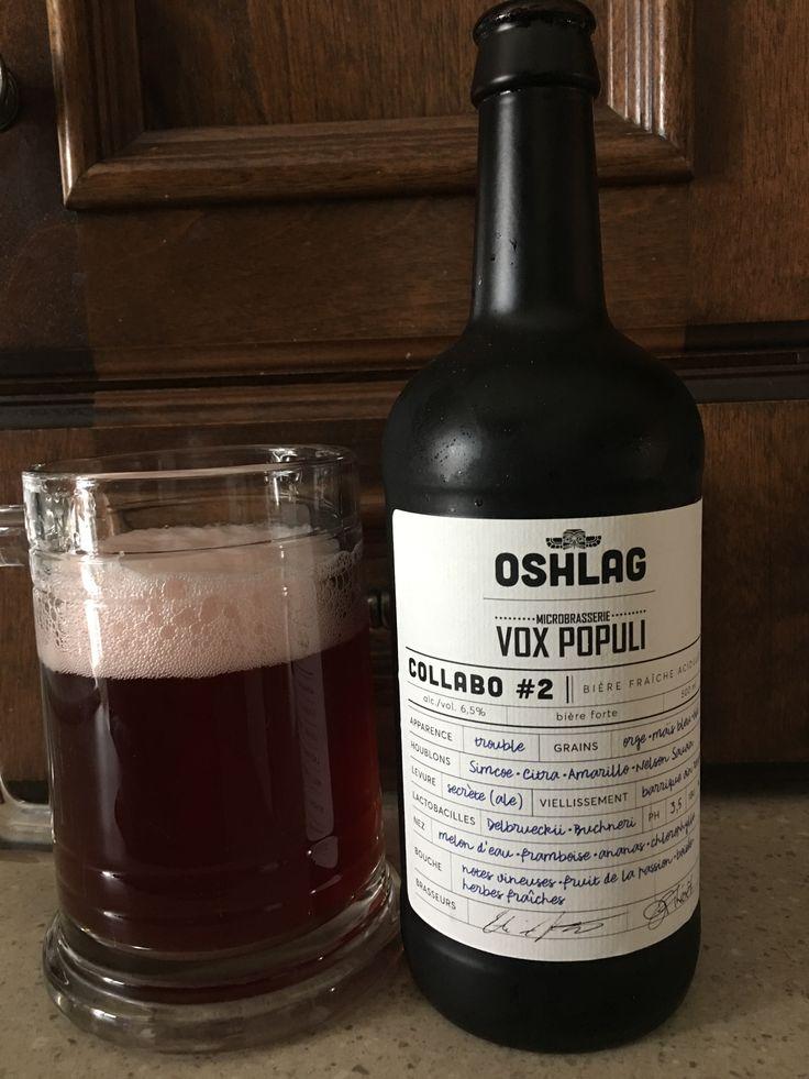 Collabo #2 bière fraîche acidulé à 6,5% par Oshlag microbrasserie Vox Populi. 4/5